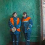 Соседи. Гульчехра и Назима. Холст, масло. 140х110см. 2015г. | Neighbors. Gulchekhra and Nazima. Canvas, oil. 140х110cm. 2015