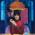 Вечерний кофе. Фрагмент. Холст, масло. 80х85см. 2003г. | Evening coffee. Fragment. Canvas, oil. 80х85cm. 2003