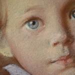 Фрагмент двойного портрета. Бумага, пастель. 2013 г. | Fragment of a double portrait. Paper, crayon. 2013