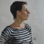 Рита. Бумага, пастель. 50х49см. 2010г. | Rita. Paper, crayon. 50х49cm. 2010