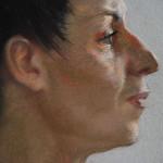 Рита. Фрагмент. Бумага, пастель. 2010г. | Rita. Fragment. Paper, crayon. 2010