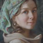 Александра портрет пастелью фрагмент