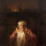 Рембрандт. Навстречу вечности. Холст, масло; 105х100см; 2019г. | Rembrandt. Towards eternity. Canvas, oil; 105х100cm; 2019
