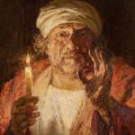 Рембрандт. Навстречу вечности - фрагмент. Холст, масло; 105х100см; 2019г. | Rembrandt. Towards eternity - fragment. Canvas, oil; 105х100cm; 2019