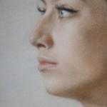 Алина Петровская . Фрагмент. Бумага (велюр) , пастель. 57х43 см; 2020 г.