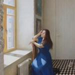 Когда время идет не спеша. Портрет Галины. Бумага, пастель; 72х50 см; 2020 г. | When time goes slowly. Portrait of Galina. Paper, crayon; 72x50 cm; 2020